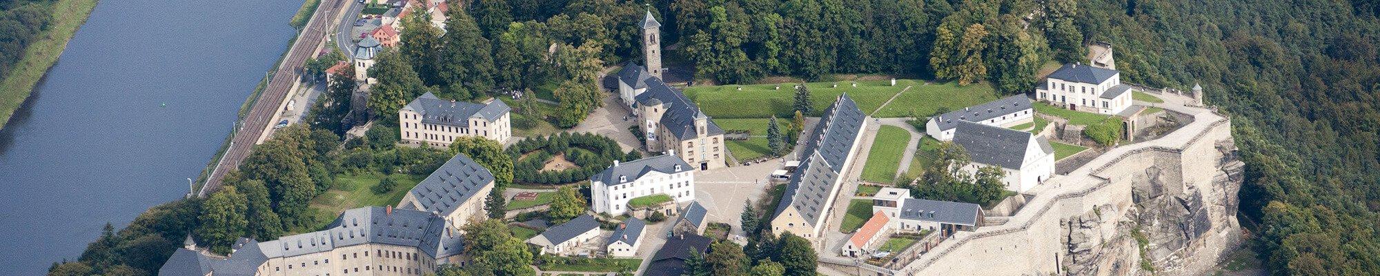 Luftbild Festung Königstein
