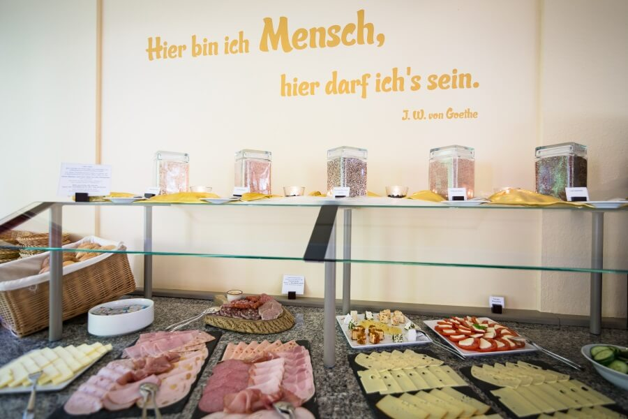 Frühstücksbuffet Hotel Grundmühle
